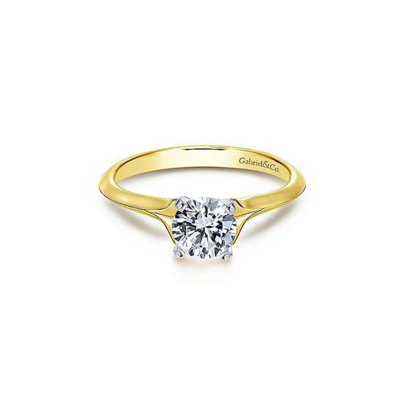 Gabriel Ellis 14K Yellow Gold Round Diamond Engagement Ring