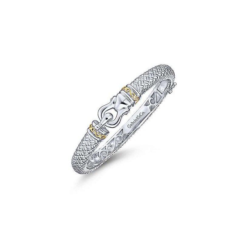 Gabriel 18K Yellow Gold & Sterling Silver Bangle Bracelet