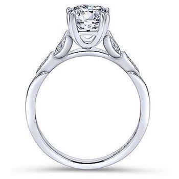 Celia 14K White Gold Round Diamond Engagement Ring