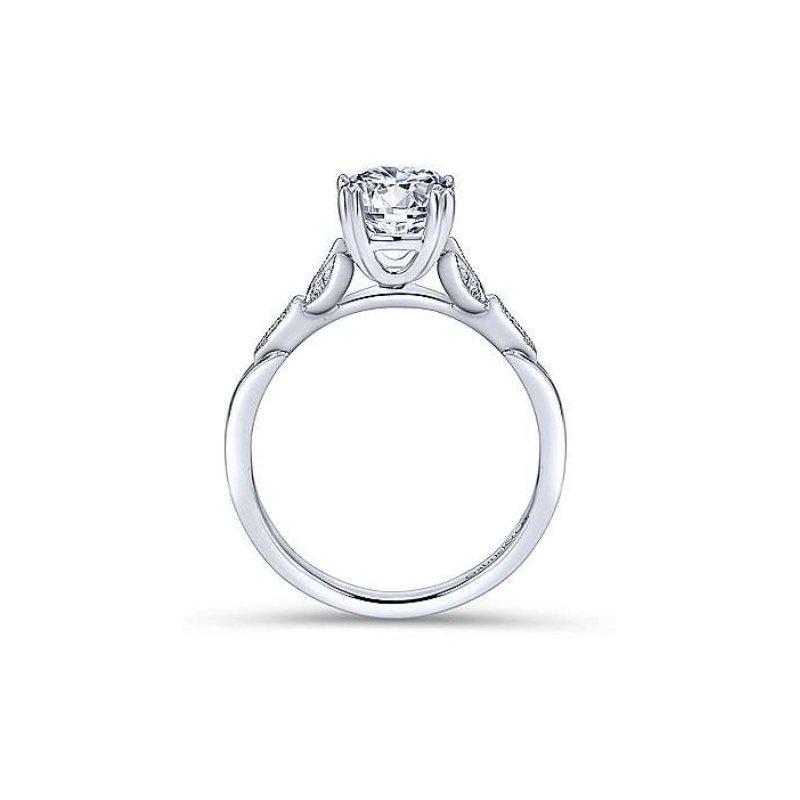 Gabriel Celia 14K White Gold Round Diamond Engagement Ring