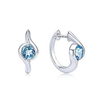 Blue Topaz Bypass Earrings
