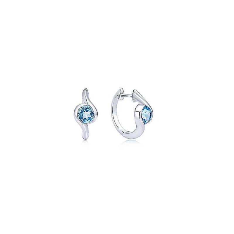 Gabriel Blue Topaz Bypass Earrings