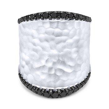 Sterling Silver Black Spinel Fashion Ring LR51008SVJBS