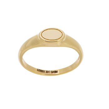 14K Yellow Gold Engravable Oval Signet Ring
