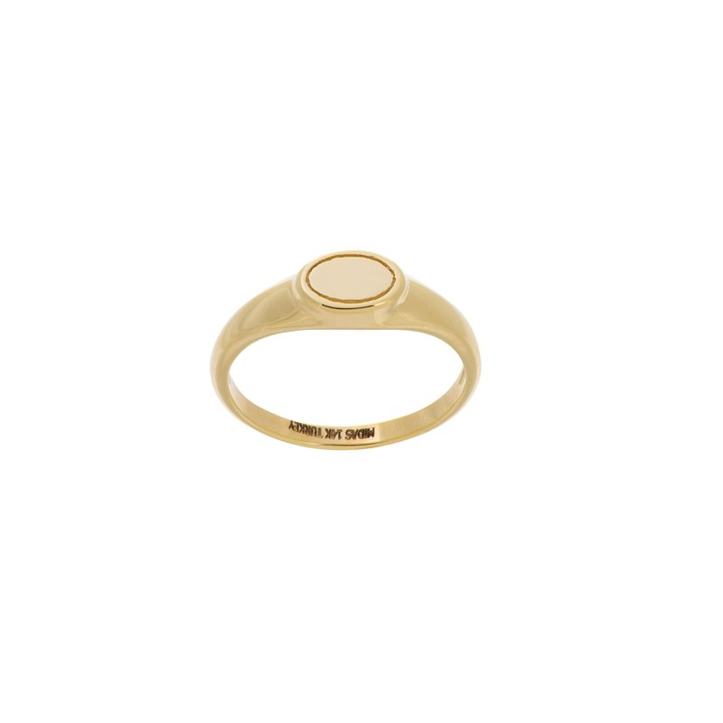 Midas 14K Yellow Gold Engravable Oval Signet Ring