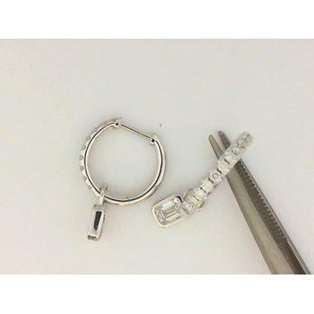18K White Gold Forevermark Diamond Hoop Earrings