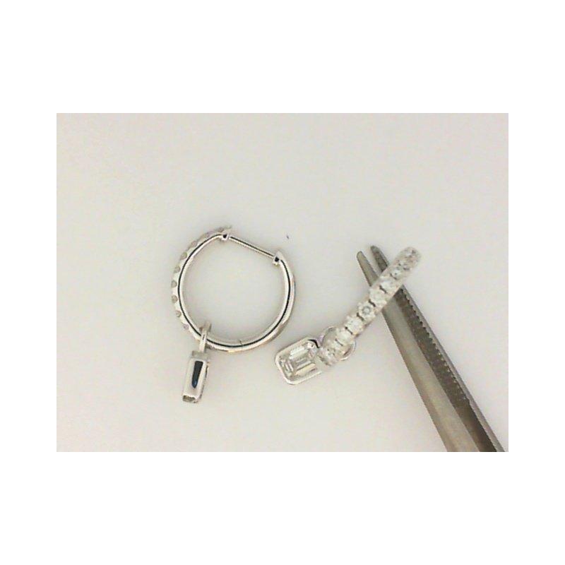 Natalie K 18K White Gold Forevermark Diamond Hoop Earrings