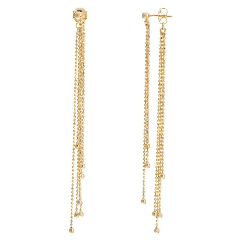 Midas 14K Yellow Gold Diamond Cut Bead Fringe Earrings