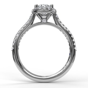 14K White Gold Diamond Engagement Ring S2792