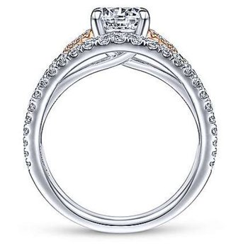 Cecile 14K Two-Tone White and Rose Gold Engagement Ring