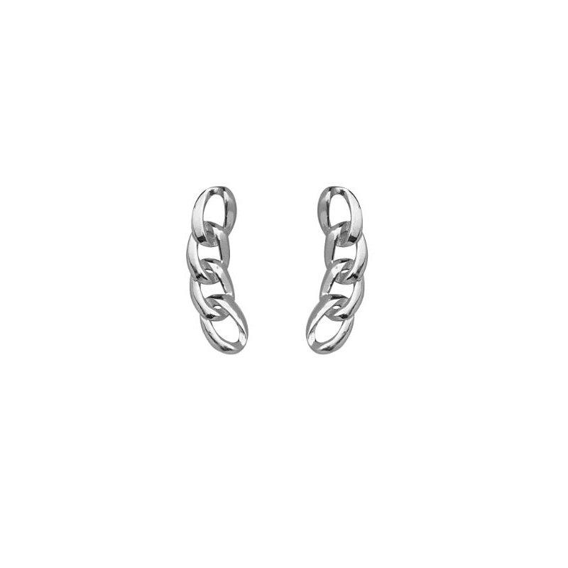 Midas 925 Sterling Silver Fancy Link Climber Earrings