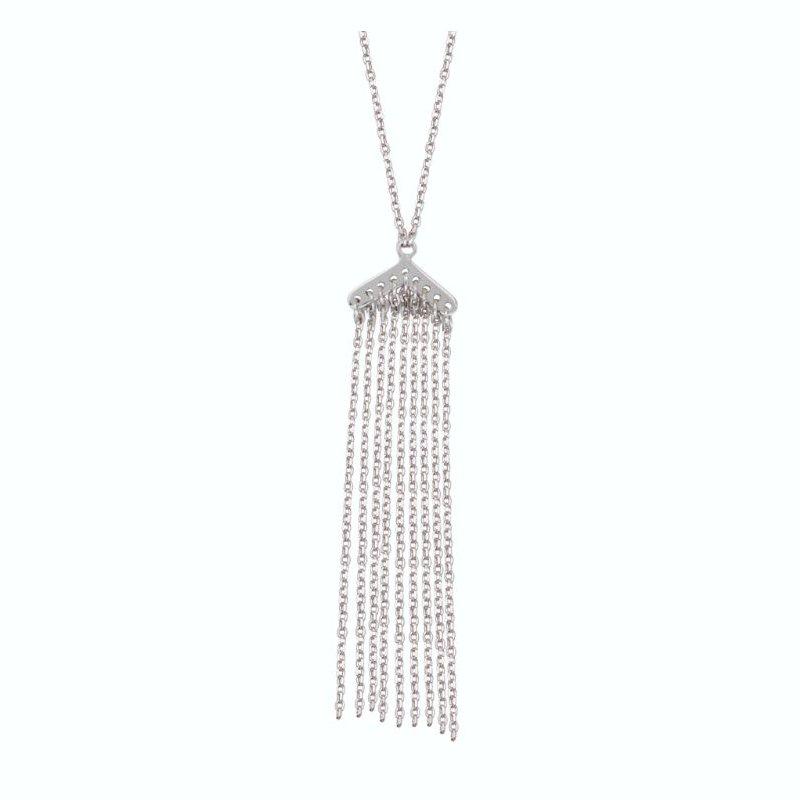Midas Sterling Silver Small Tassel Adjustable Necklace