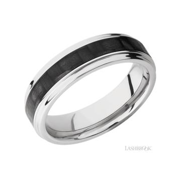 Titanium & Carbon Fiber Men's Wedding Band