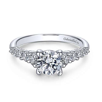 Reed 14K White Gold Round Diamond Engagement Ring