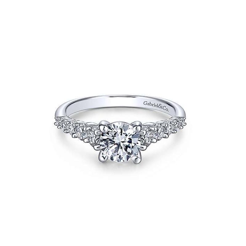 Gabriel Reed 14K White Gold Round Diamond Engagement Ring
