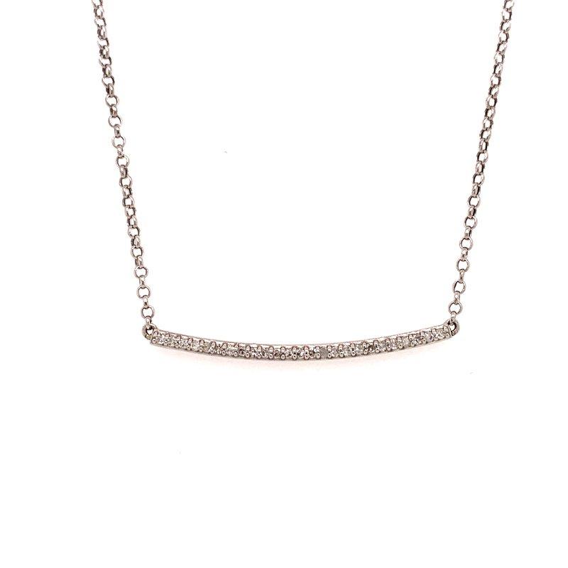 Best Sellers 10K White Gold Diamond Bar Necklace