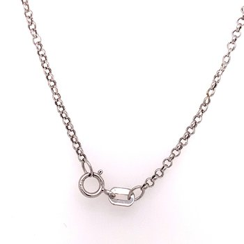 10K White Gold Diamond Bar Necklace