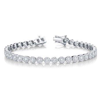 14k W 3.03TWT Diamond Bracelet