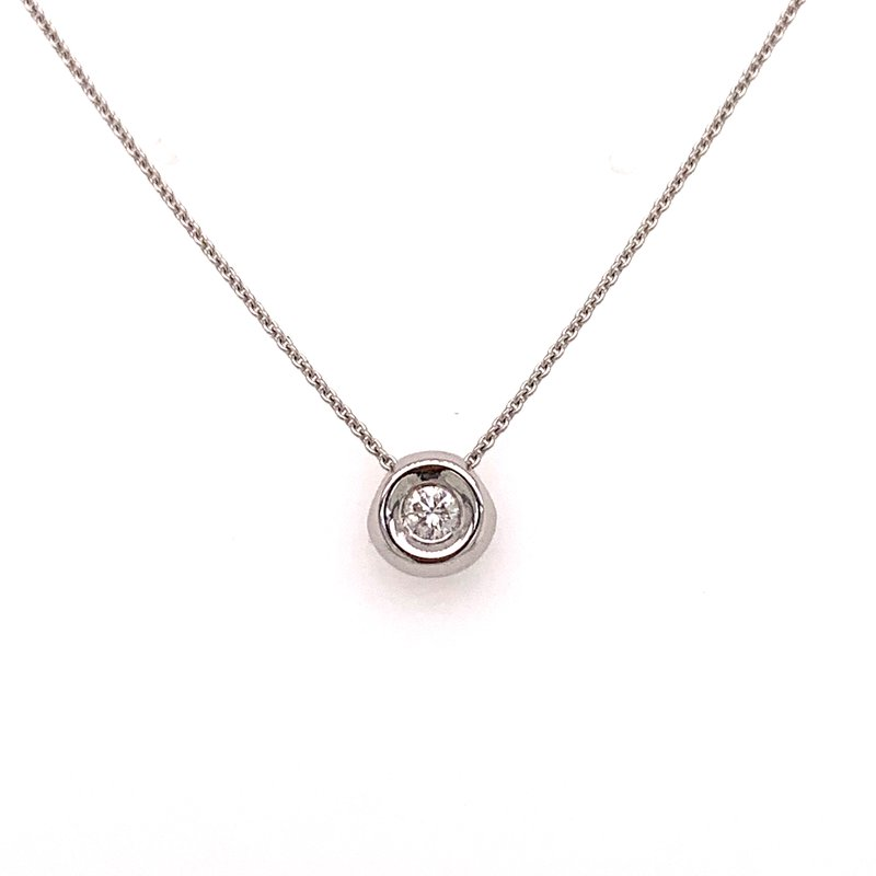 Best Sellers 14K White Gold Diamond Bezel and Chain