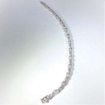 Diamond Bracelet in white gold