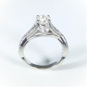Diamond Engagement ring 1.15 ctw in white gold