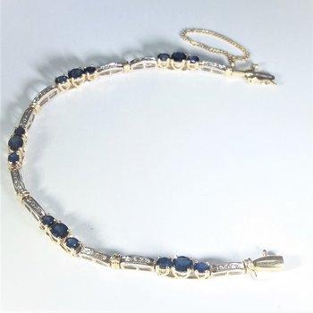 Sapphire and Diamond Bracelet two tone