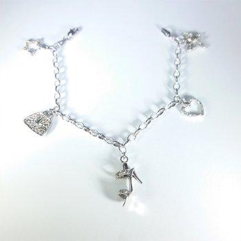 Charm Diamond Bracelet in white gold