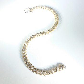 Diamond Bracelet in yellow gold