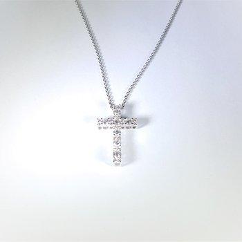 Diamond Cross in white gold