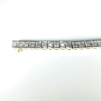 Diamond Bracelet in Two-Tone gold