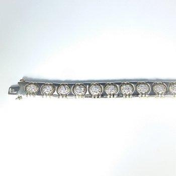 Diamond Bracelet in Two-Tone gold