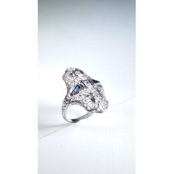 estate 18k white gold ring