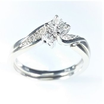 Diamond Bridal Set with Enchancer Band 0.35 ctw