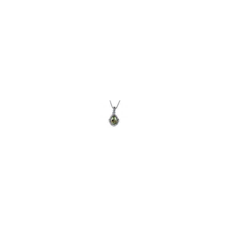 Studio Silver Green Amethyst Eve Necklace
