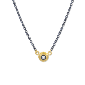 24k & Sterling Silver Diamond Protective Eye Necklace