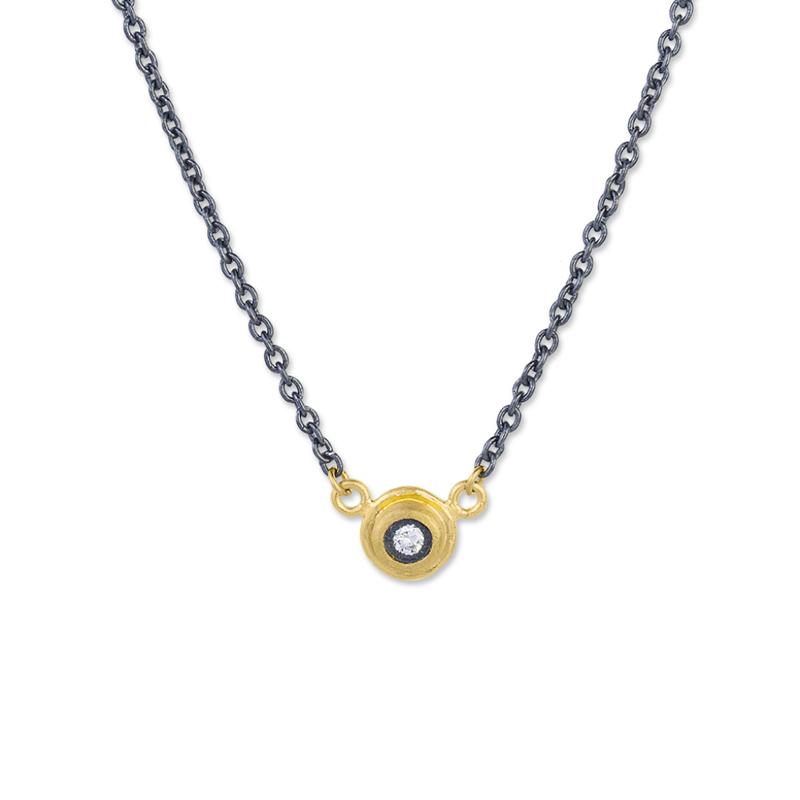 Studio Fine 24k & Sterling Silver Diamond Protective Eye Necklace