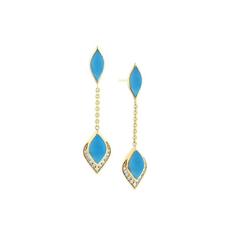 Studio Fine 14 Karat Turquoise Dangle Earrings