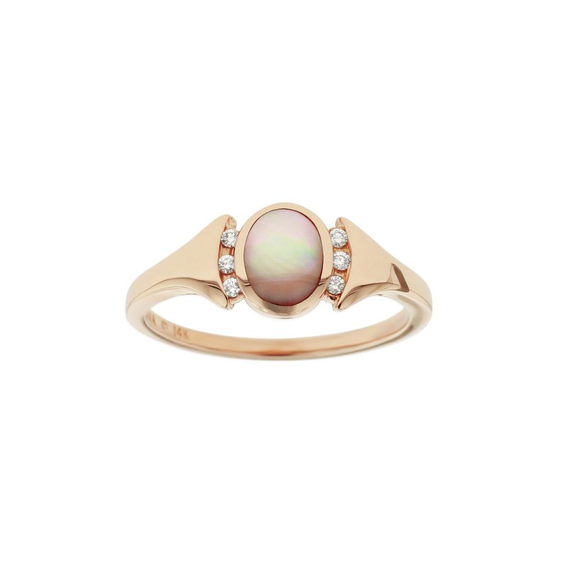 Studio Fine 14 Karat Blush Signet Ring
