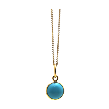 18 Karat Turquoise Ocean Drop Pendant