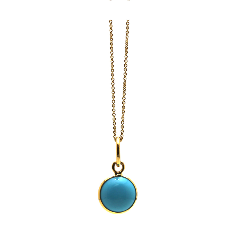 Studio Fine 18 Karat Turquoise Ocean Drop Pendant