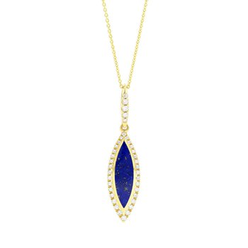 14 Karat Lapis Classic Necklace