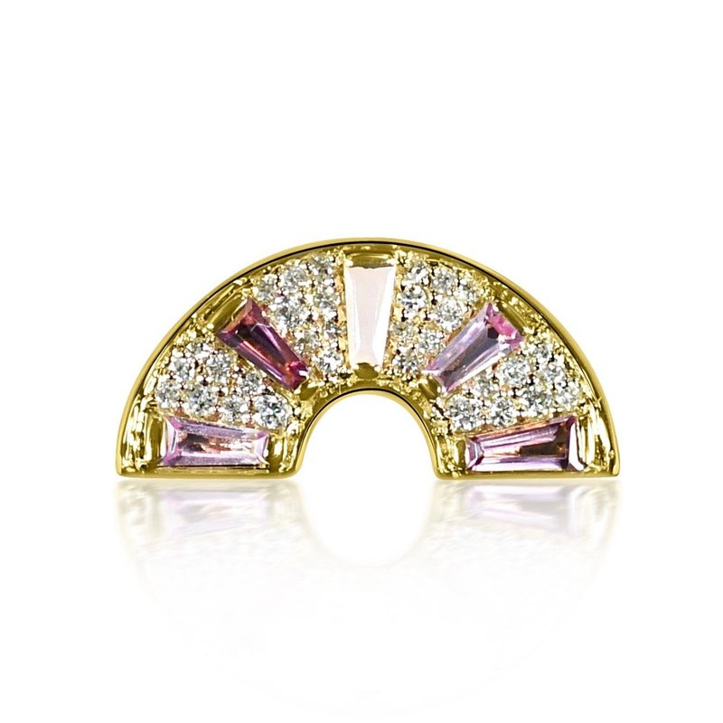 Curated Color Pink Rainbow Ring
