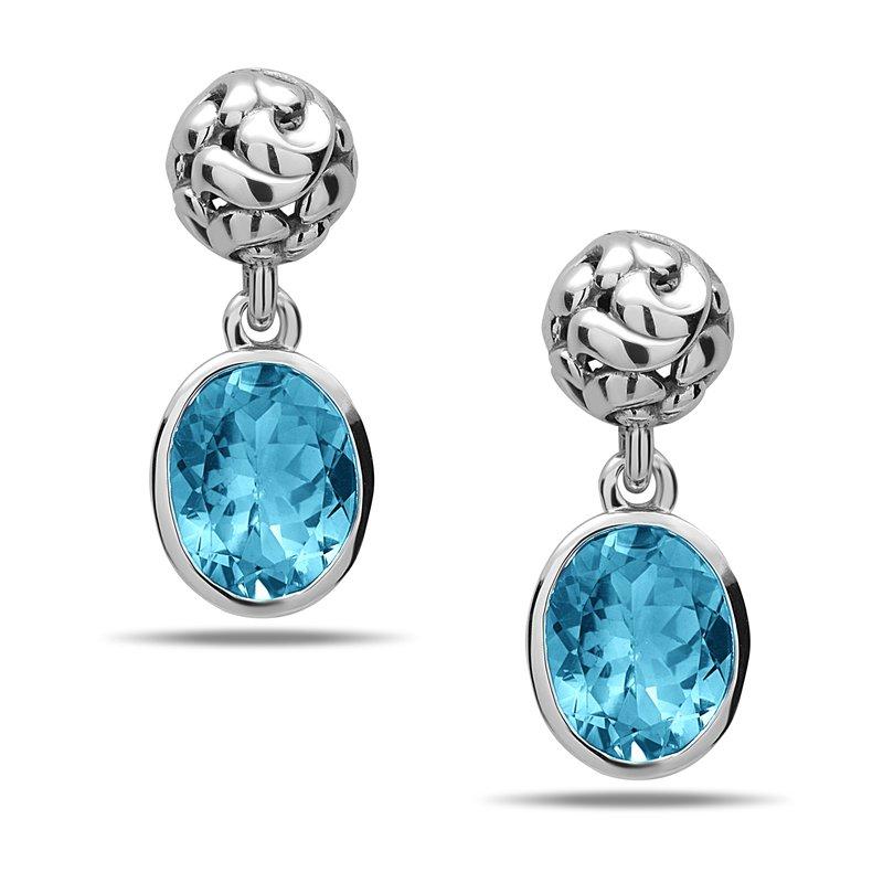 Studio Silver Blue Topaz Dylani Earrings