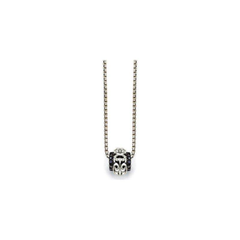 Studio Silver Black Sapphire Ivy Ball Necklace