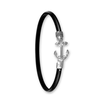 4mm Black Titanium Anchor Hook Bangle