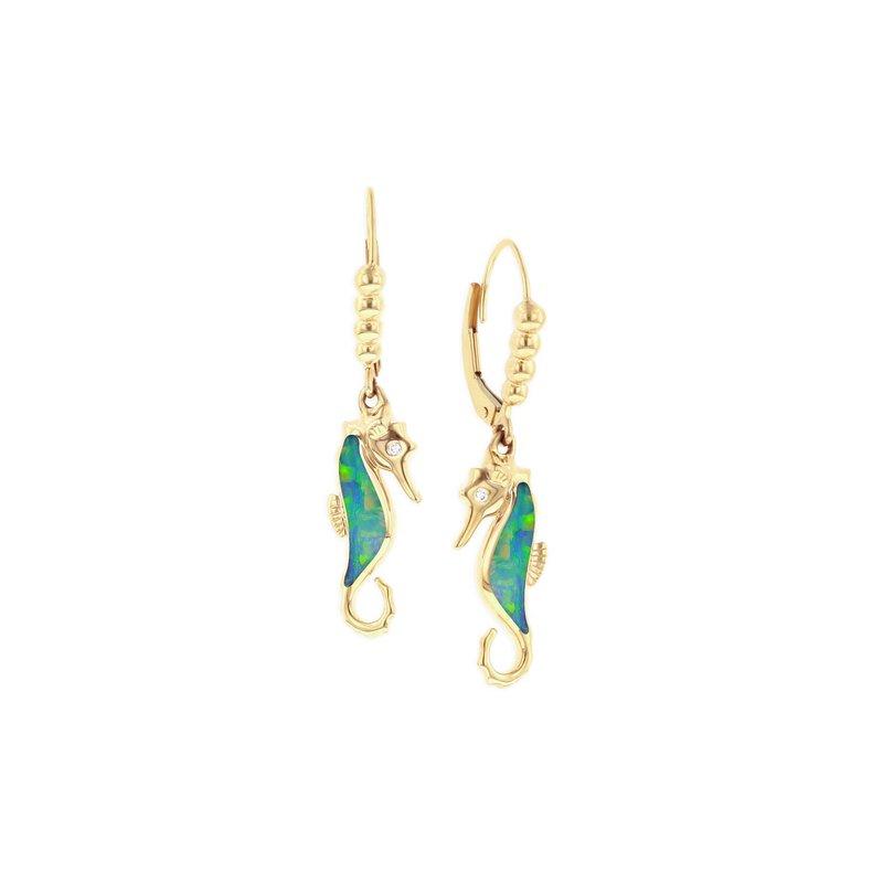 Studio Fine 14 Karat Opal Seahorse Earrings