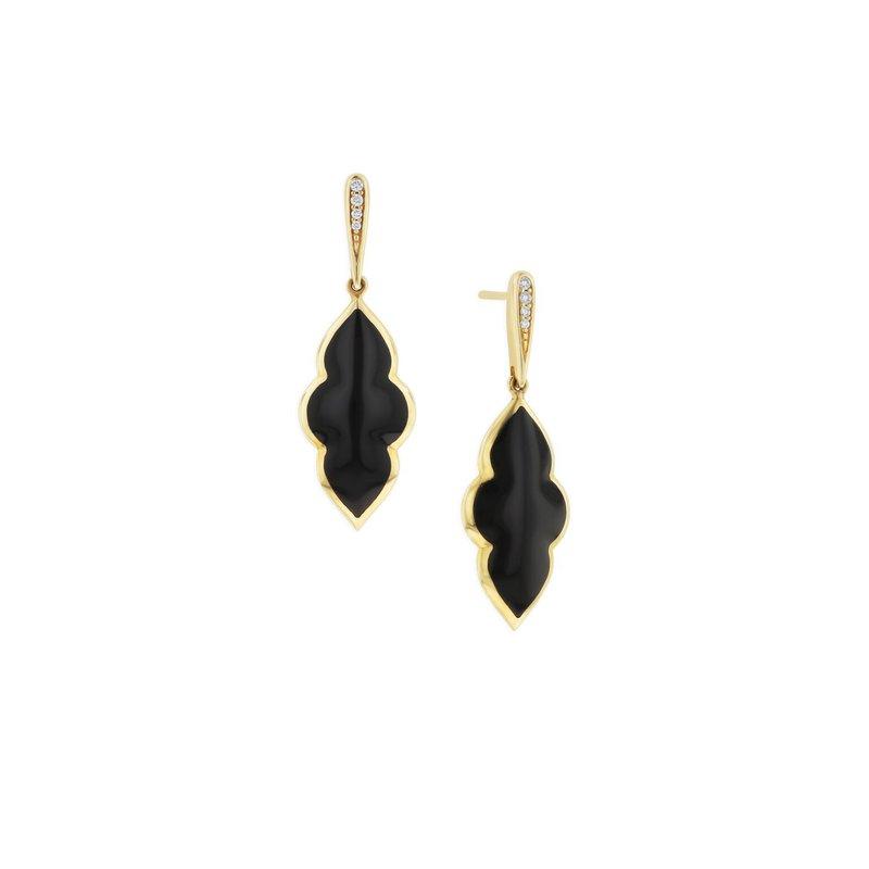 Studio Fine 14 Karat Onyx Petite Earrings
