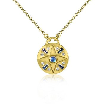 Small Compass Gemstone Necklace