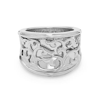 Sterling Silver Ivy Lace Saddle Ring