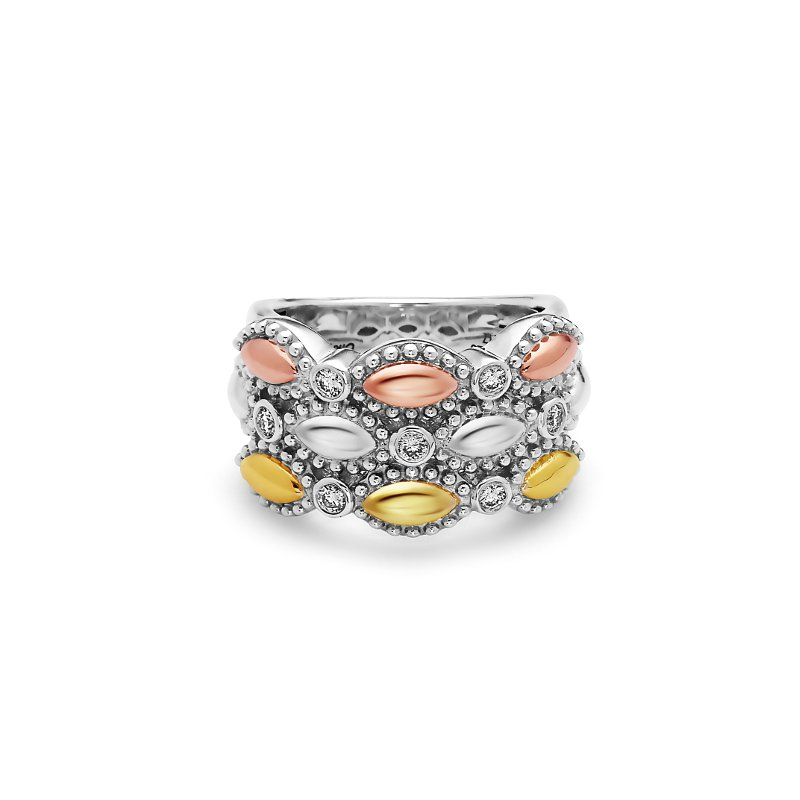 Studio Silver Tri-color Firefly Ring
